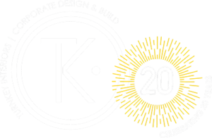 Turnkey Interiors - 20th Anniversary logo - Corporate Design and Build